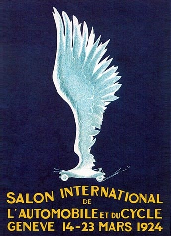 Geneva International Motor Show 1924 poster