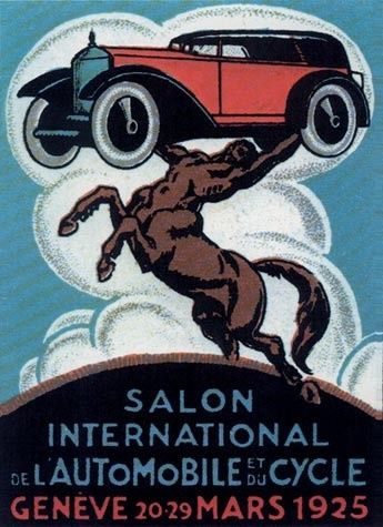 Geneva International Motor Show 1925 poster