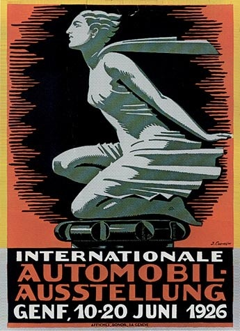 Geneva International Motor Show 1926 poster