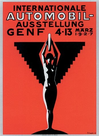 Geneva International Motor Show 1927 poster