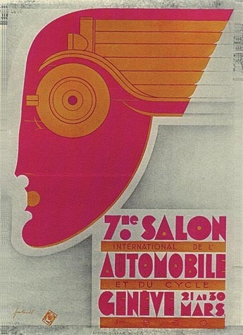 Geneva International Motor Show 1930 poster