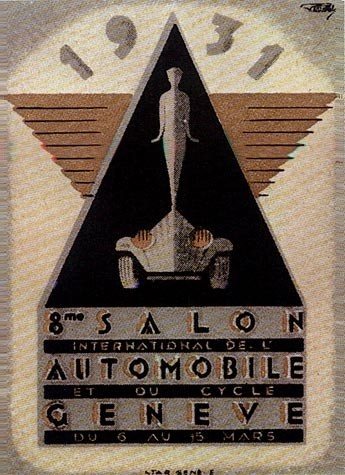 Geneva International Motor Show 1931 poster