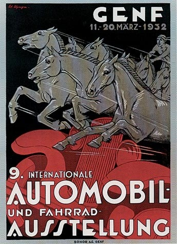 Geneva International Motor Show 1932 poster