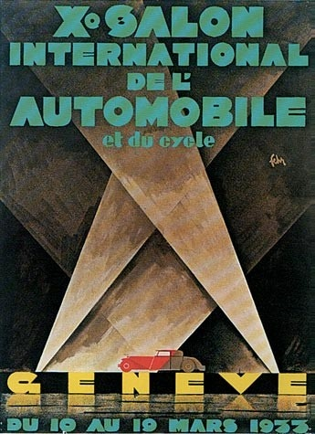 Geneva International Motor Show 1933 poster