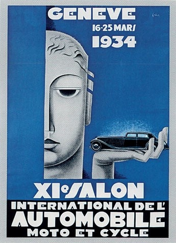Geneva International Motor Show 1934 poster
