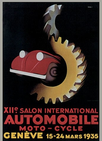 Geneva International Motor Show 1935 poster