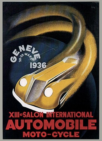 Geneva International Motor Show 1936 poster