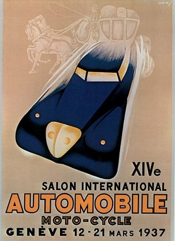 Geneva International Motor Show 1937 poster