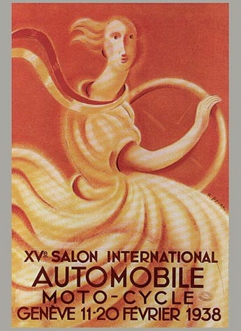 Geneva International Motor Show 1938 poster