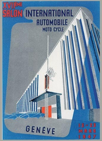Geneva International Motor Show 1947 poster