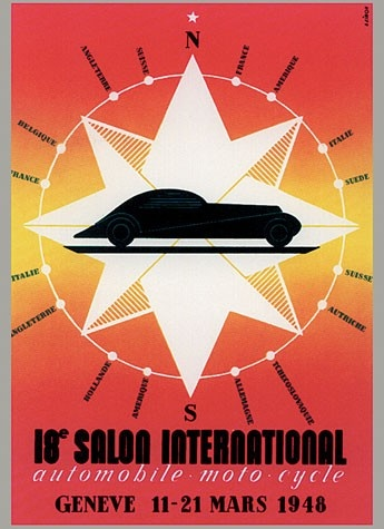 Geneva International Motor Show 1948 poster
