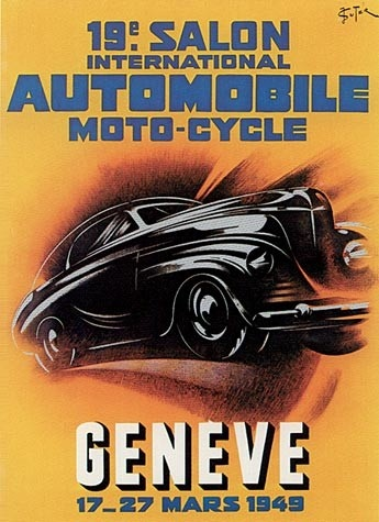Geneva International Motor Show 1949 poster