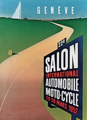 Geneva International Motor Show 1952 poster