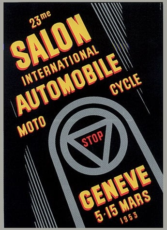Geneva International Motor Show 1953 poster