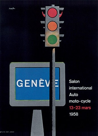 Geneva International Motor Show 1958 poster