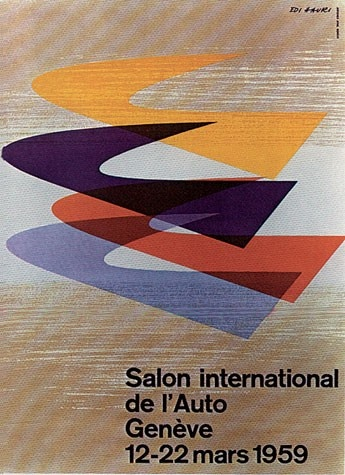 Geneva International Motor Show 1959 poster