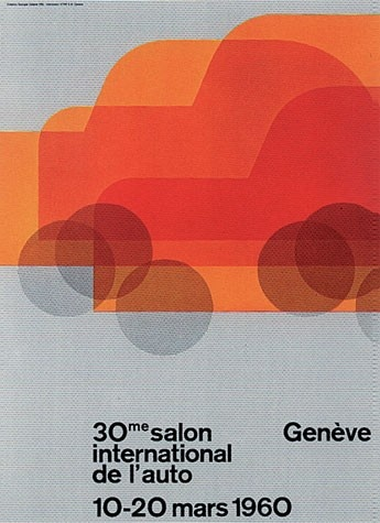 Geneva International Motor Show 1960 poster