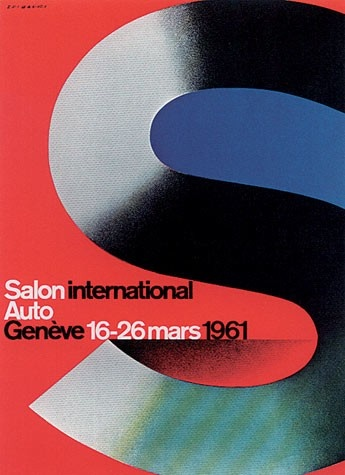 Geneva International Motor Show 1961 poster