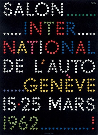 Geneva International Motor Show 1962 poster