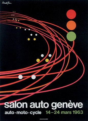 Geneva International Motor Show 1963 poster