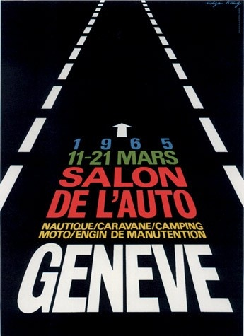 Geneva International Motor Show 1965 poster