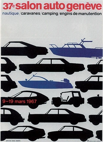 Geneva International Motor Show 1967 poster