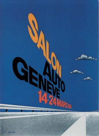 Geneva International Motor Show 1968 poster