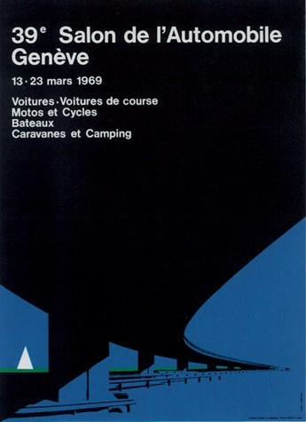 Geneva International Motor Show 1969 poster