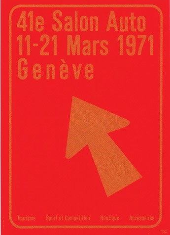 Geneva International Motor Show 1971 poster