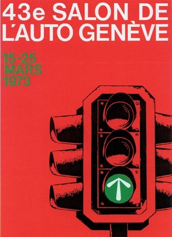 Geneva International Motor Show 1973 poster