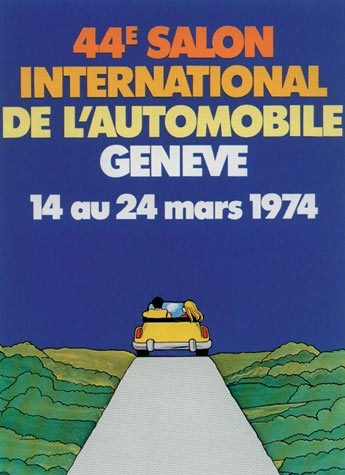 Geneva International Motor Show 1974 poster