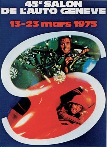 Geneva International Motor Show 1975 poster