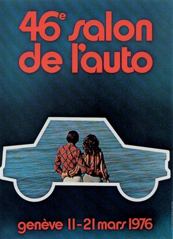 Geneva International Motor Show 1976 poster