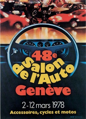 Geneva International Motor Show 1978 poster