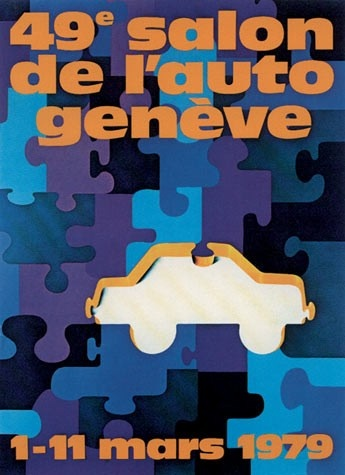 Geneva International Motor Show 1979 poster