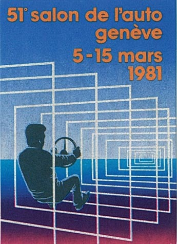 Geneva International Motor Show 1981 poster