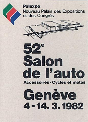 Geneva International Motor Show 1982 poster