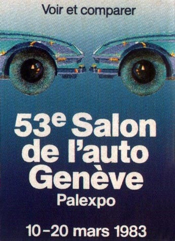 Geneva International Motor Show 1983 poster