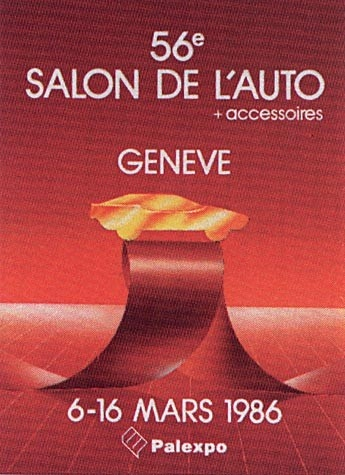 Geneva International Motor Show 1986 poster