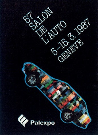 Geneva International Motor Show 1987 poster