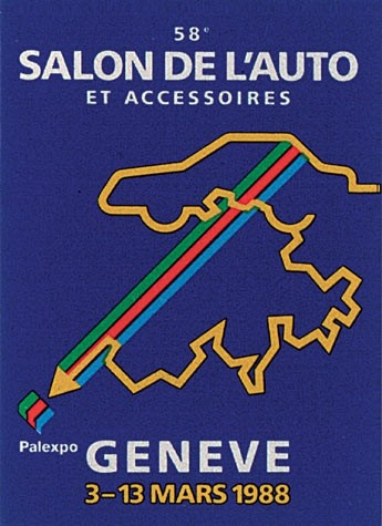 Geneva International Motor Show 1988 poster