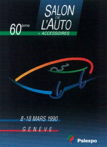Geneva International Motor Show 1990 poster