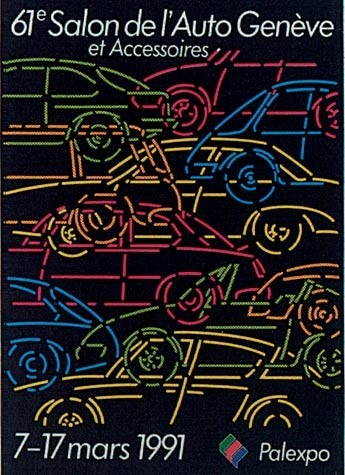 Geneva International Motor Show 1991 poster