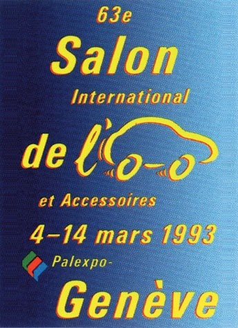 Geneva International Motor Show 1993 poster