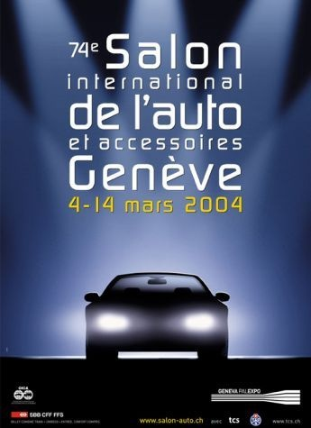 Geneva International Motor Show 2004 poster