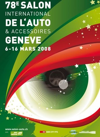 Geneva International Motor Show 2008 poster