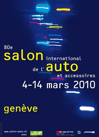 Geneva International Motor Show 2010 poster