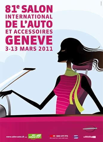 Geneva International Motor Show 2011 poster