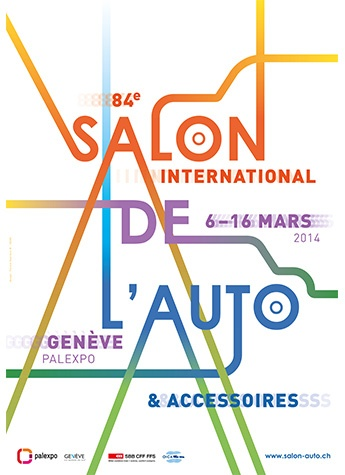 Geneva International Motor Show 2014 poster
