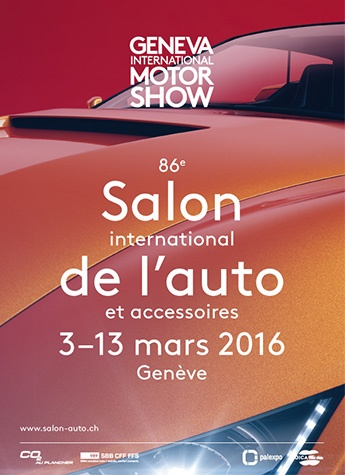 Geneva International Motor Show 2016 poster